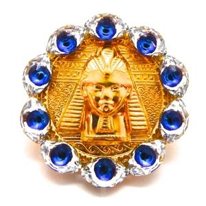EGYPTIAN GOLD EYE OF GOD MEDALLION RING NEW